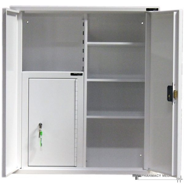 CMED402 medicine cabinet with internal controlled drugs cabinet