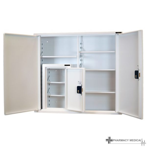 CMED404 medicine cabinet with internal controlled drugs cabinet