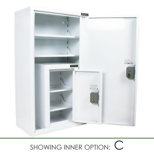 CMED350 medicine cabinet with internal controlled drugs cabinet Option C