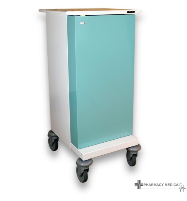 Small MDS Drugs trolley with door closed
