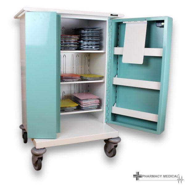PM220 Medicine Drugs Trolley Door Open