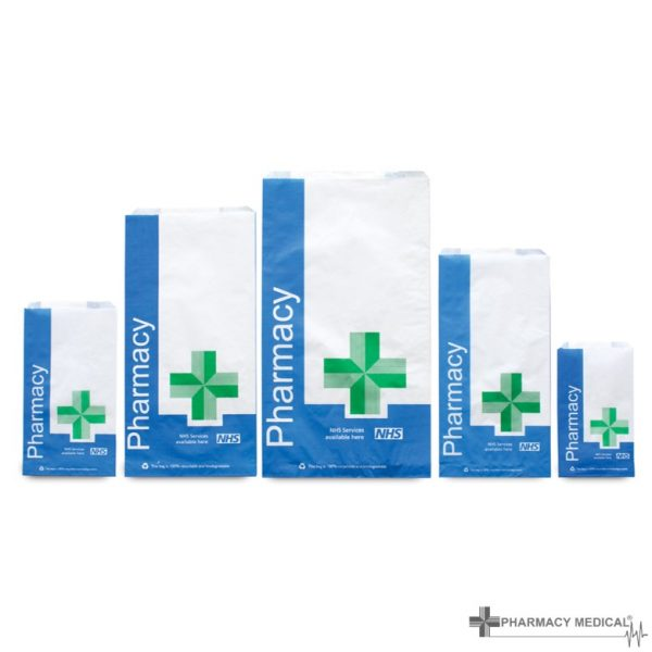 NHS pharmacy counter bags