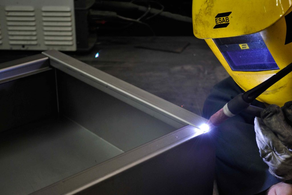 Welding a bespoke controlled drugs cabinet