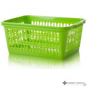 bright green dispensing baskets