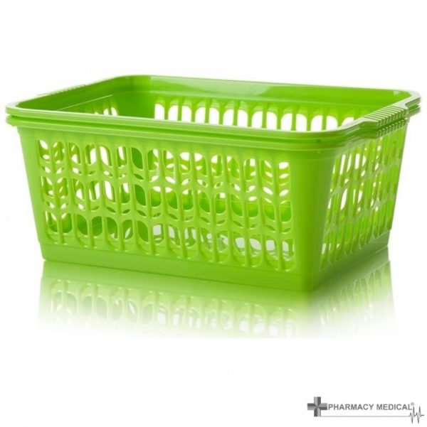 bright green dispensing baskets