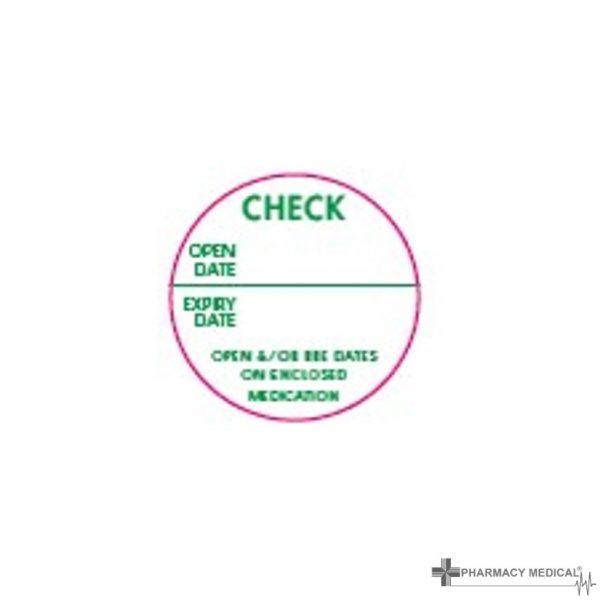 check date prescription alert stickers