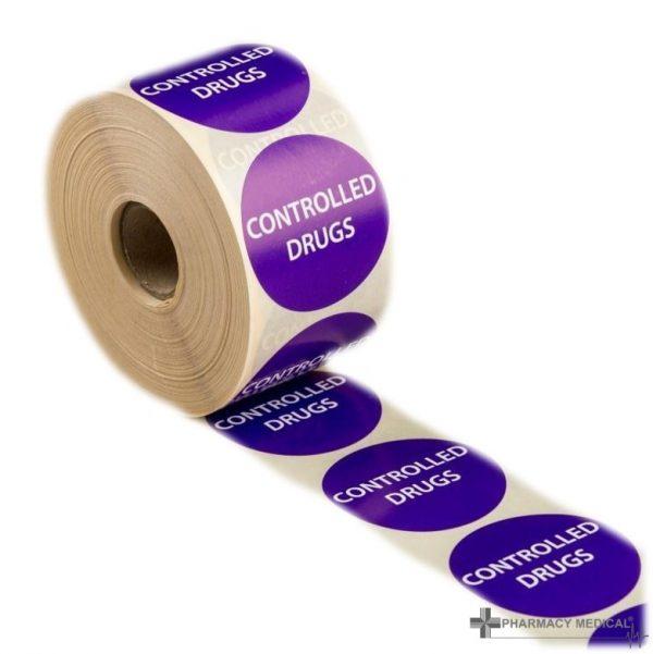 controlled drugs prescription alert stickers