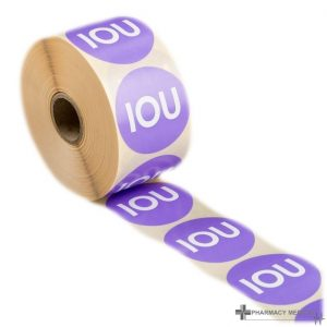 iou prescription alert stickers