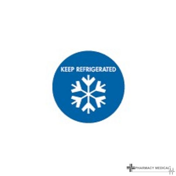 keep refrigerated prescription alert sticker