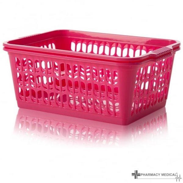 bright pink dispensing baskets
