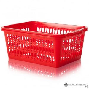 red dispensing baskets