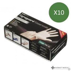 powered latex disposable gloves