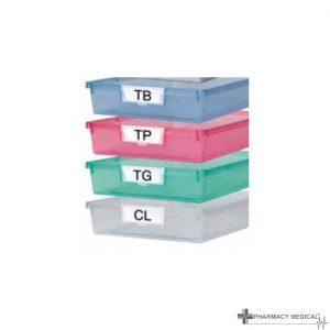 transparent plastic trays