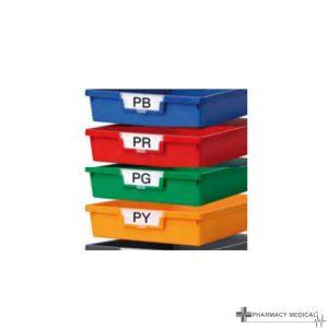 solid plastic trays