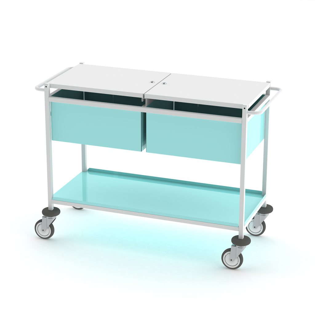 MR040 Large medical records trolley