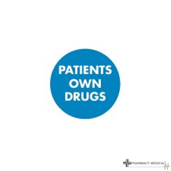 patients own drugs prescription alert stickers