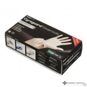 powdered latex disposable gloves