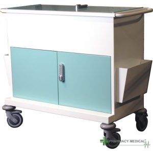 small secure medical records trolley