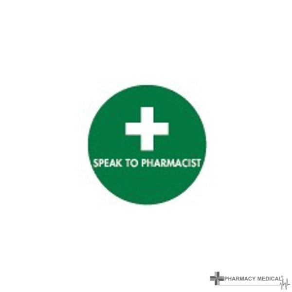 speak to pharmacist prescription alert stickers