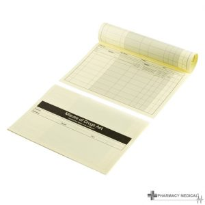 yellow controlled drugs register inserts